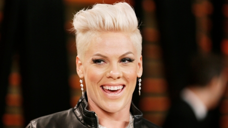 Pink arrives at the 2014 Vanity Fair Oscars Party in West Hollywood